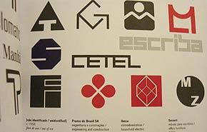 Pequeno recorte no catálogo de logotipos de Alexandre Wollner