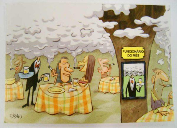 Cartão postal criado por Bee Media, baseado na Lei Anti-fumo de São Paulo