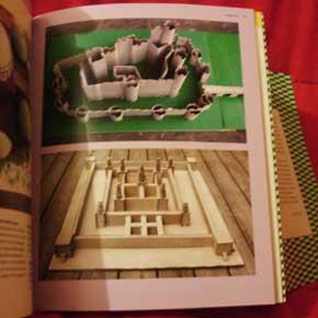 Exemplo 3 de trabalho feito por crianças, no livro Eu que fiz, de Ellen e Julia Lupton