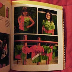 Exemplo 5 de trabalho feito por crianças, no livro Eu que fiz, de Ellen e Julia Lupton