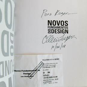 Novos Fundamentos do Design, autógrafo