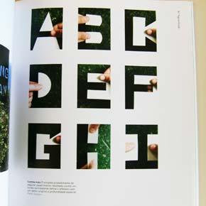 Novos Fundamentos do Design, tipofrafia feita com recortes de papel
