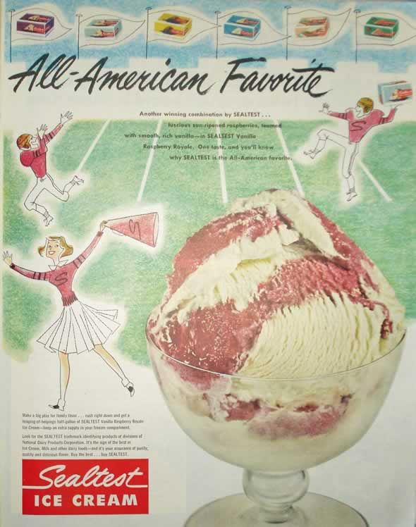 Anúncio americano de 1951, da revista The Saturday Evening Post