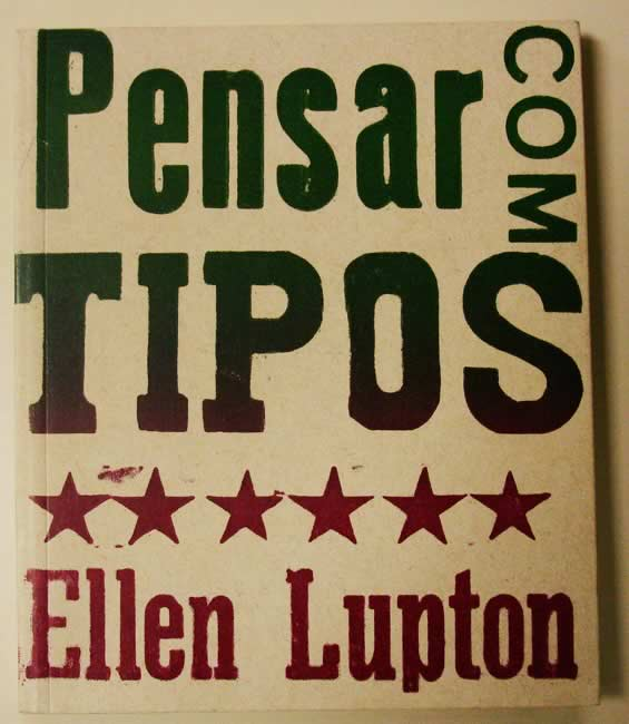 Capa de Pensar com tipos, de Ellen Lupton