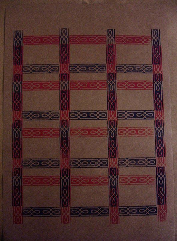 Cartaz produzido com tipografia manual, por Giorgia Mesquita