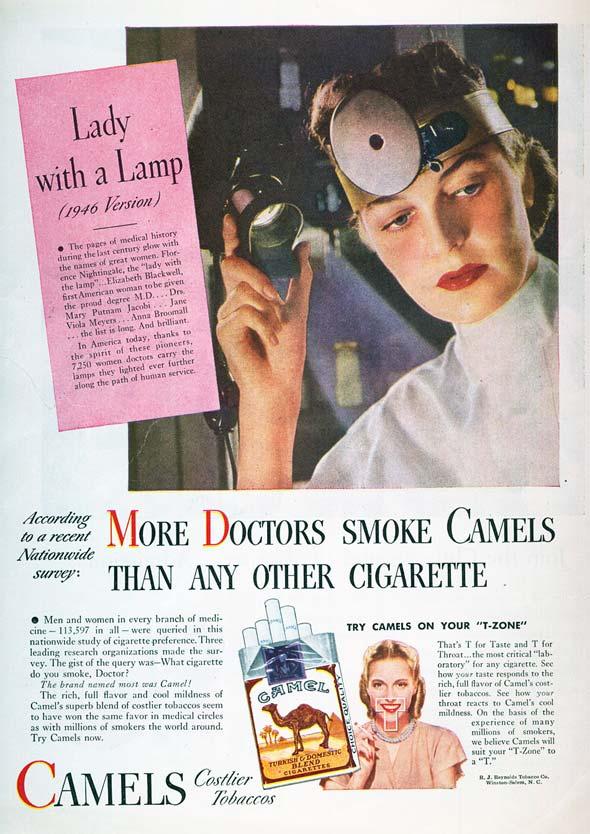 Cartaz de propaganda de cigarro