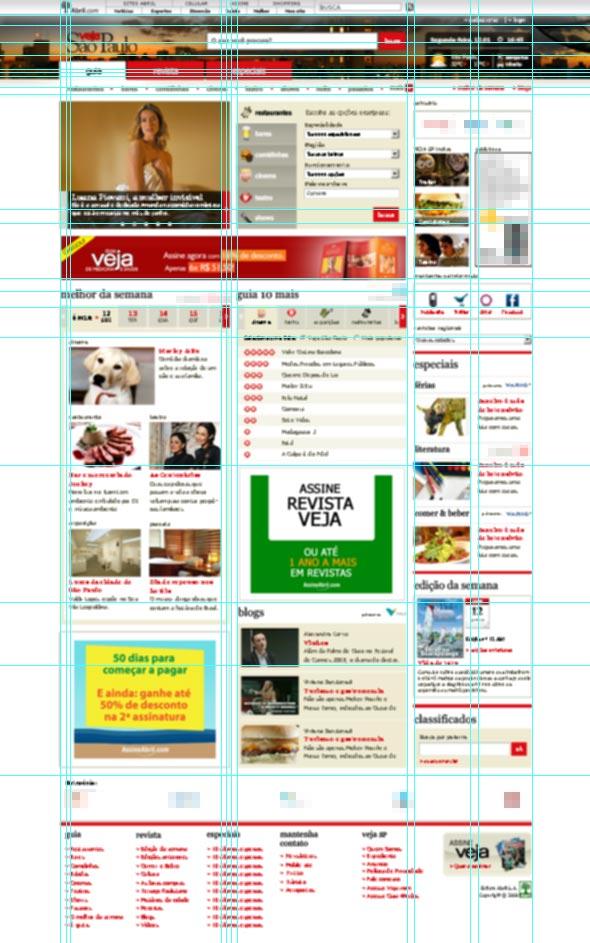 Grid na home do site VEJA São Paulo