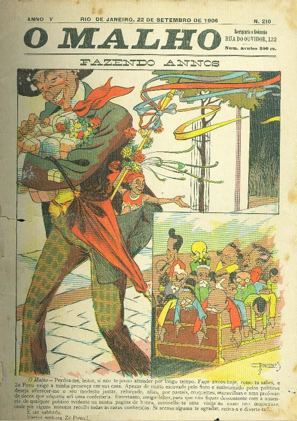 """Revista """"O Malho"""", de 1906"""