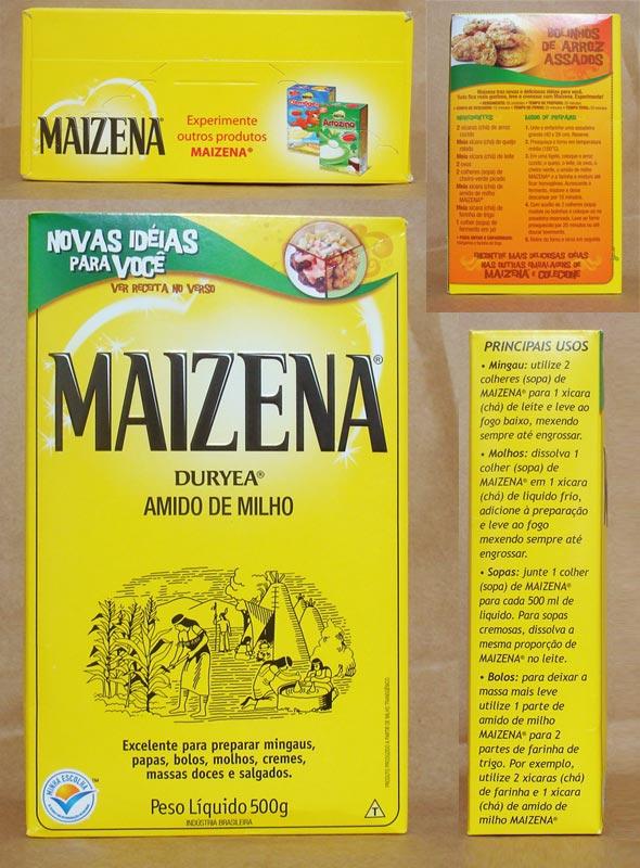 Embalagem de Maizena em 2010