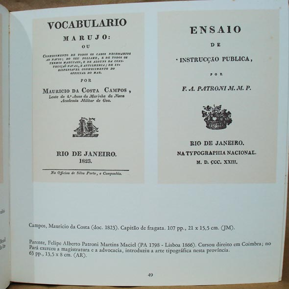 Exemplo de página interna do livro História da Tipografia no Brasil