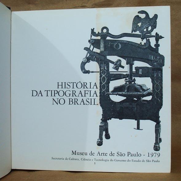 Folha de rosto do livro História da Tipografia no Brasil
