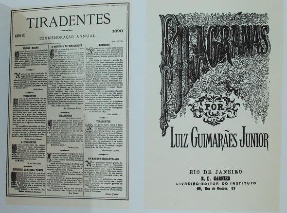 Exemplo de layout tipográfico do livro História da Tipografia no Brasil