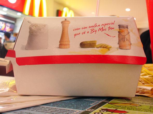 Embalagem Big Mac