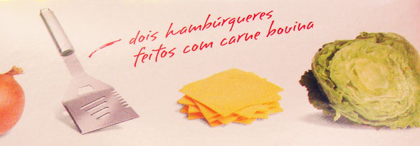 Embalagem Big Mac - Detalhe da tipografia manuscrita