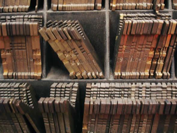 Exemplo de fonte da LINOTYPE