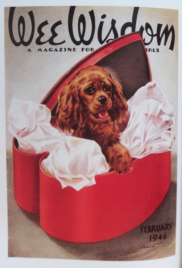 Exemplo de interna do livro Valentines - Vintage Holiday Graphics