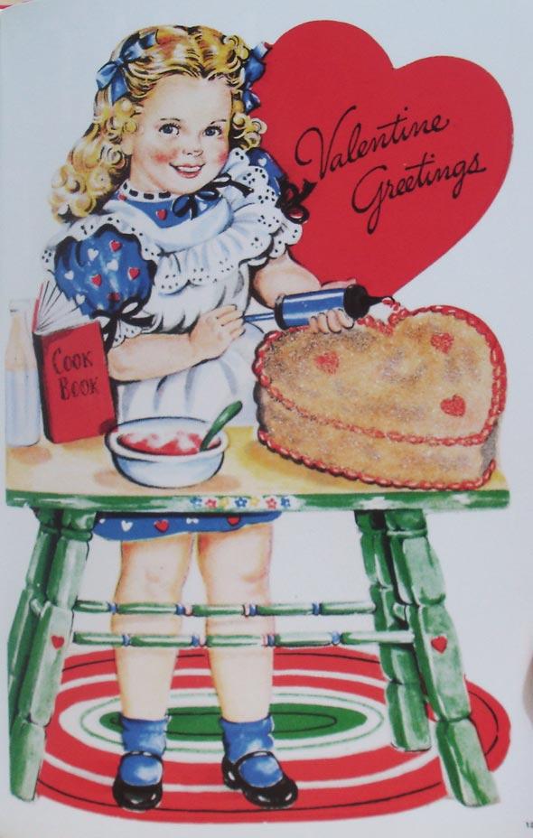 Exemplo de interna do livro Valentines - Vintage Holiday Graphics