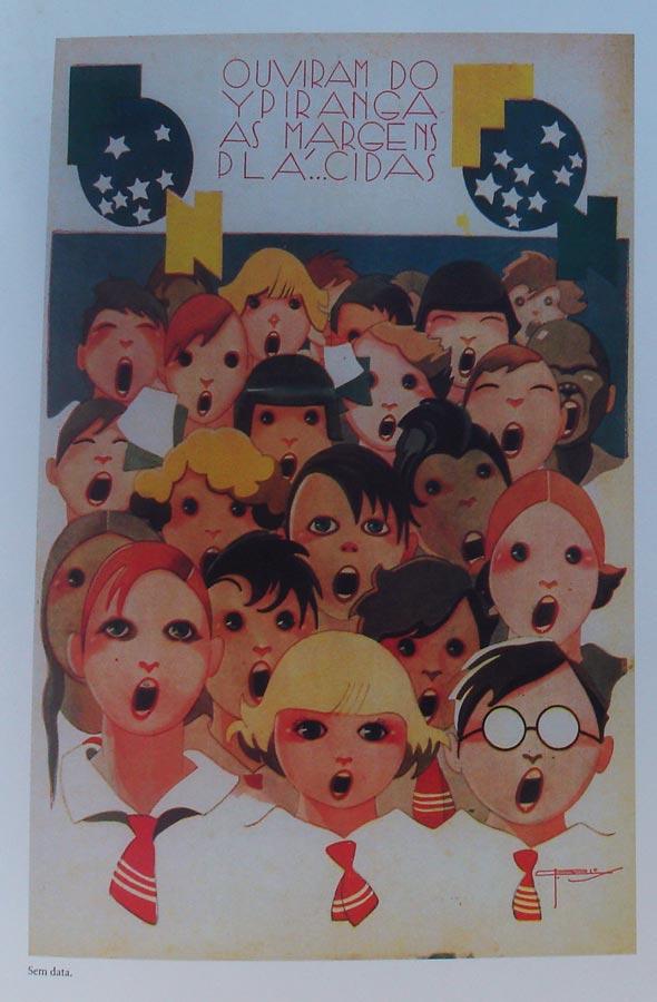 Página interna com a revista Fon Fon, no livro Lábaro Estrelado, de J. Carlos
