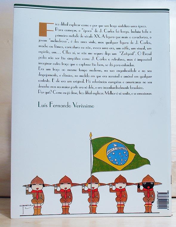 Quarta capa do livro Lábaro Estrelado, de J. Carlos