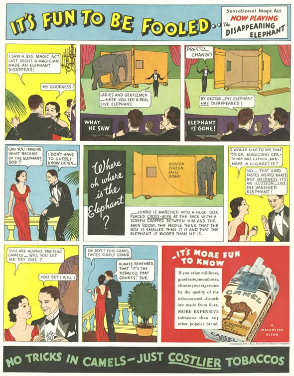 Cartaz vintage de cigarros Camel