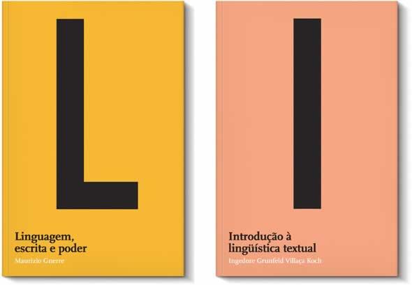 Capas de livros da Coleção Linguagem, projeto de Gustavo Piqueira