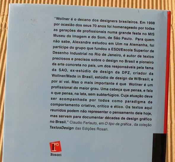 Textos recentes e escritos históricos, de Alexandre Wollner, Edições Rosari - Resenha