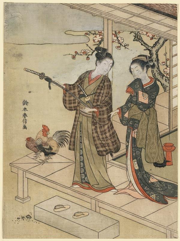 Fine-print japonesa criado/publicado entre 1767 e 1769
