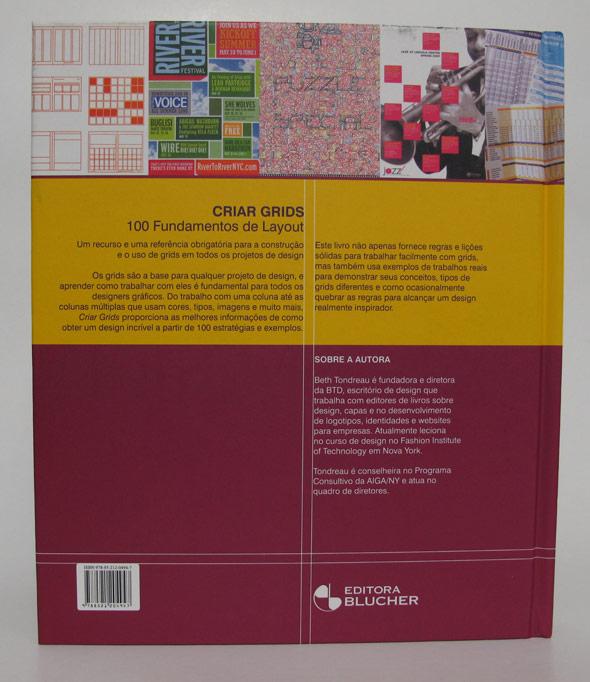 Quarta capa do livro Criar Grids, da Editora Blucher
