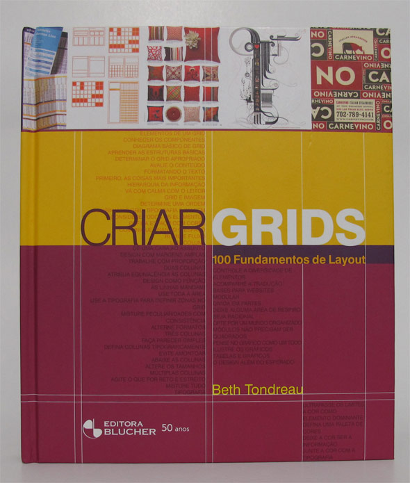 Capa do livro Criar Grids, da Editora Blucher