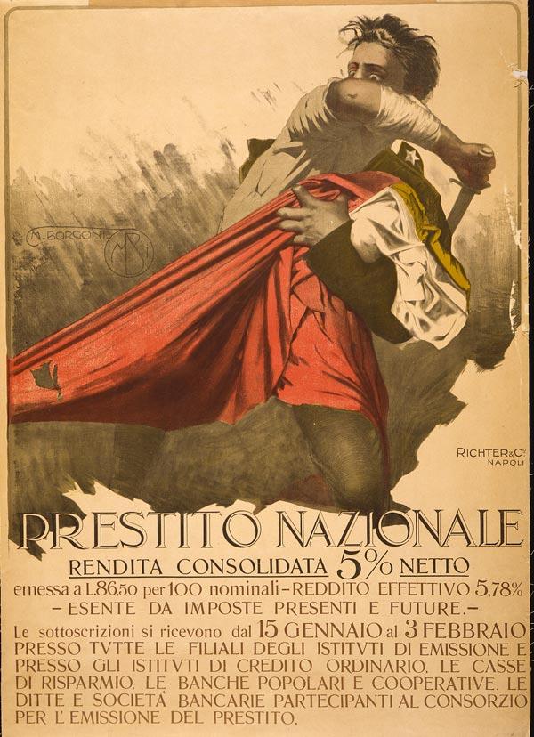 Cartaz italiano da primeira metade do século XX