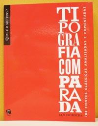 Capa do livro Tipografia Comparada, de Claudio Rocha