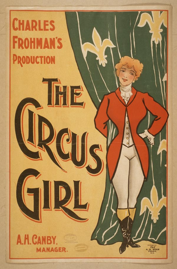 Cartaz de circo de 1897