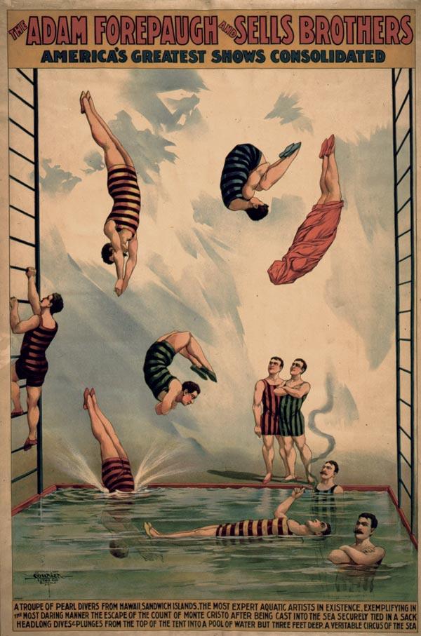 Cartaz de circo de 1898