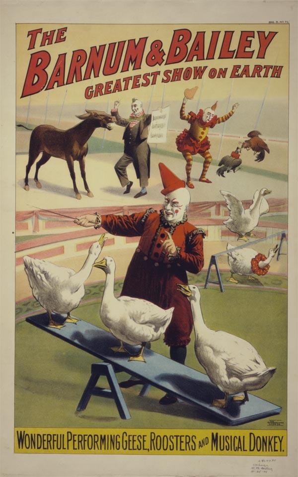 Cartaz de circo de 1900