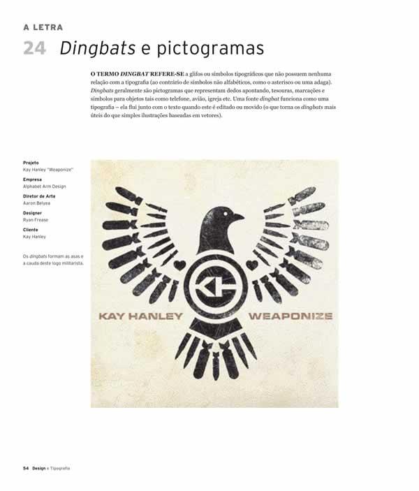 """Página do livro """"Design e Tipografia - 100 fundamentos do design com tipos"""", da Editora Blucher"""