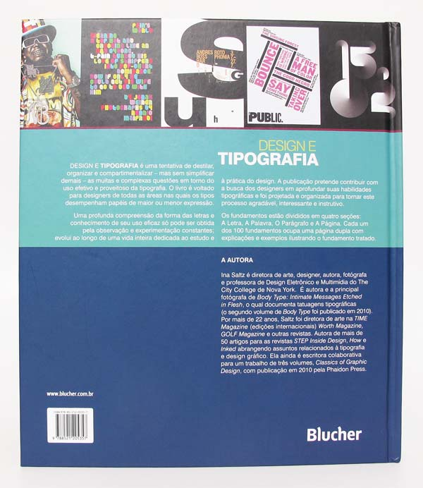 Quarta capa do livro Design e Tipografia - 100 fundamentos do design com tipos