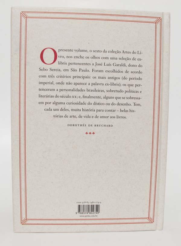 Quarta capa do livro Ex-Libris, da Ateliê Editorial