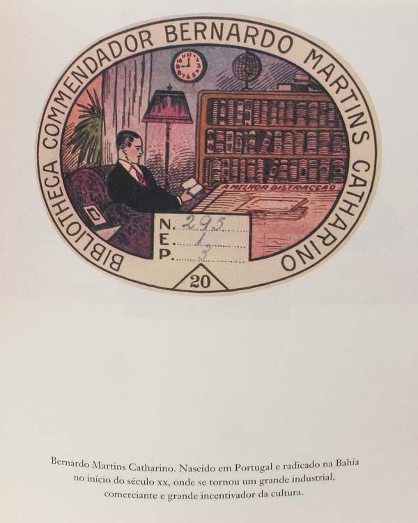 Exemplo de página do livro Ex-Libris, da Ateliê Editorial