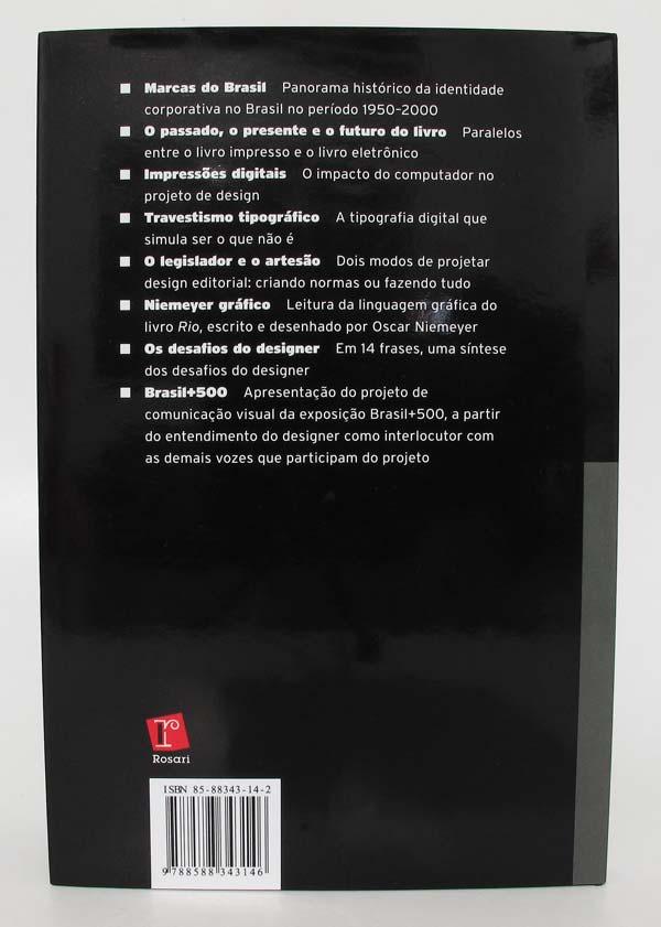 """Quarta capa do livro """"Os desafios do Designer"""", de Chico Homem de Melo"""