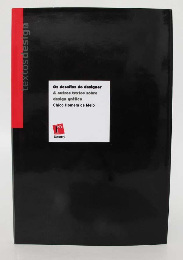 """Capa do livro """"Os desafios do Designer"""", de Chico Homem de Melo"""