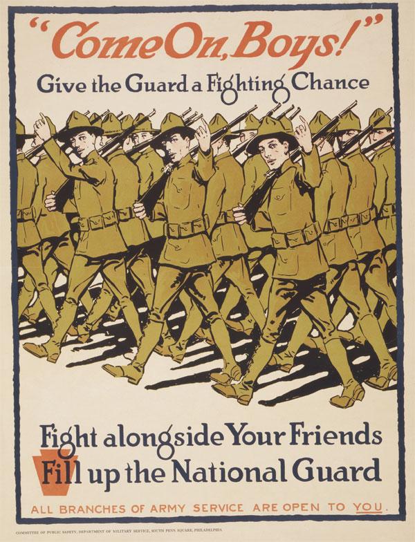 Cartaz da Primeira Guerra Mundial, publicado entre 1917 e 1919