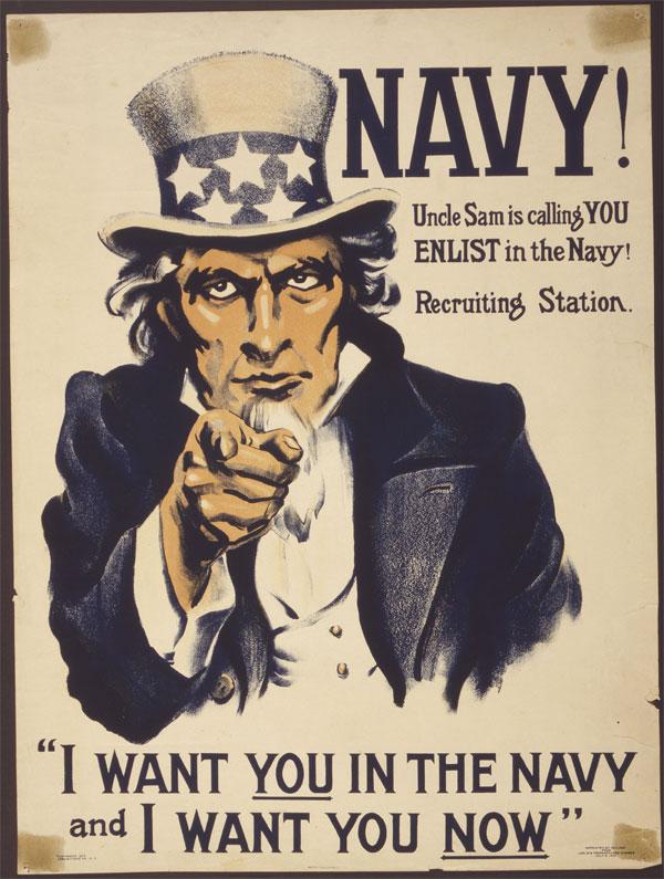 Cartaz da Primeira Guerra Mundial, publicado em 1917