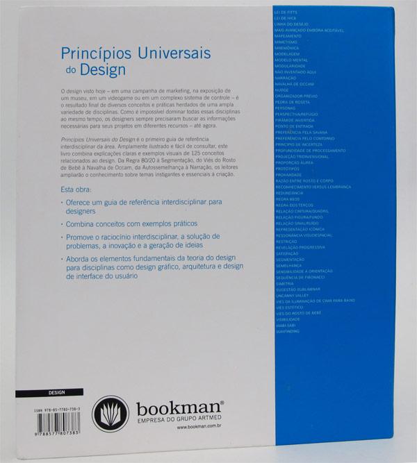 Quarta capa do livro Princípios Universais do Design, Bookman Editora
