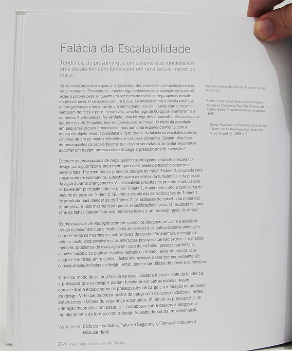Exemplo de interna do livro Princípios Universais do Design, Bookman Editora