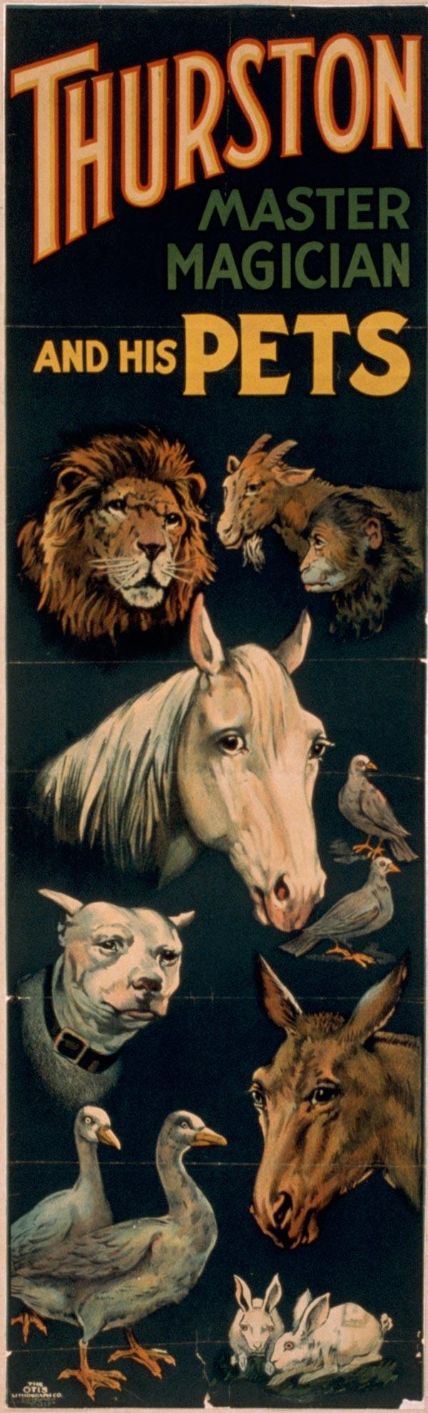 "Cartaz de ""Trurston - The Great Magician"", de 1898"