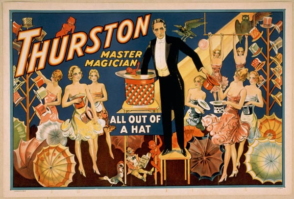 "Cartaz de ""Trurston - The Great Magician"", de 1910"
