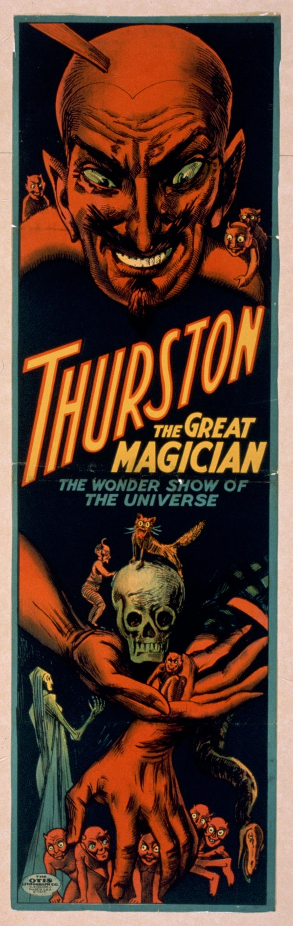 "Cartaz de ""Trurston - The Great Magician"", de 1914"