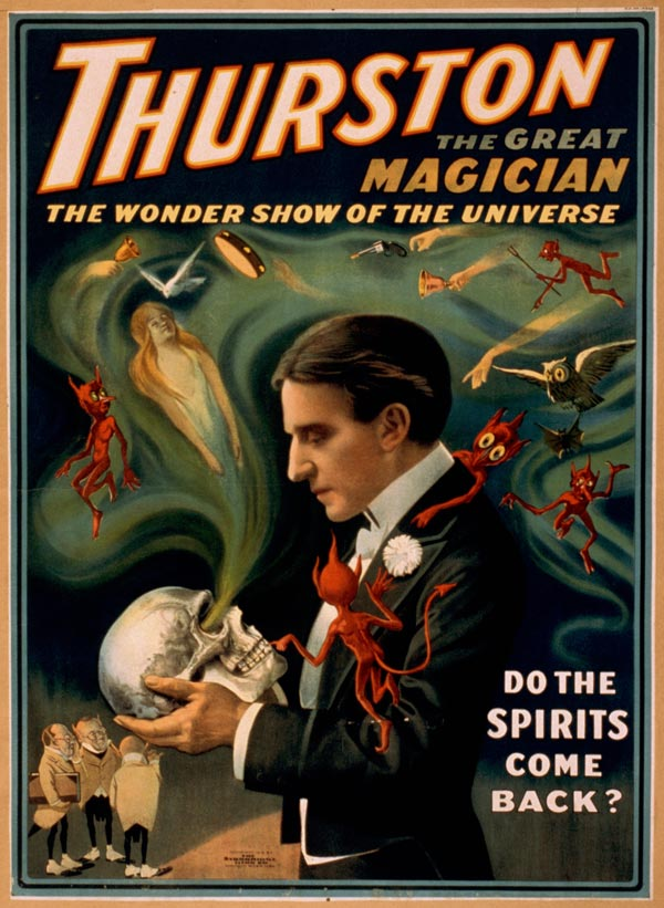 "Cartaz de ""Trurston - The Great Magician"", de 1915"