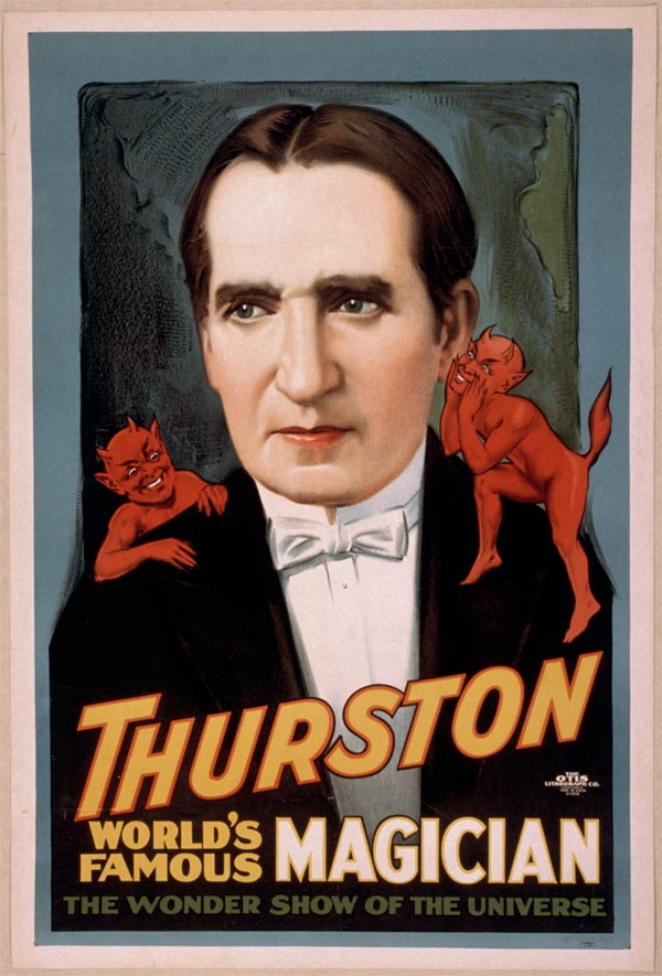 "Cartaz de ""Trurston - The Great Magician"", da década de 1920"