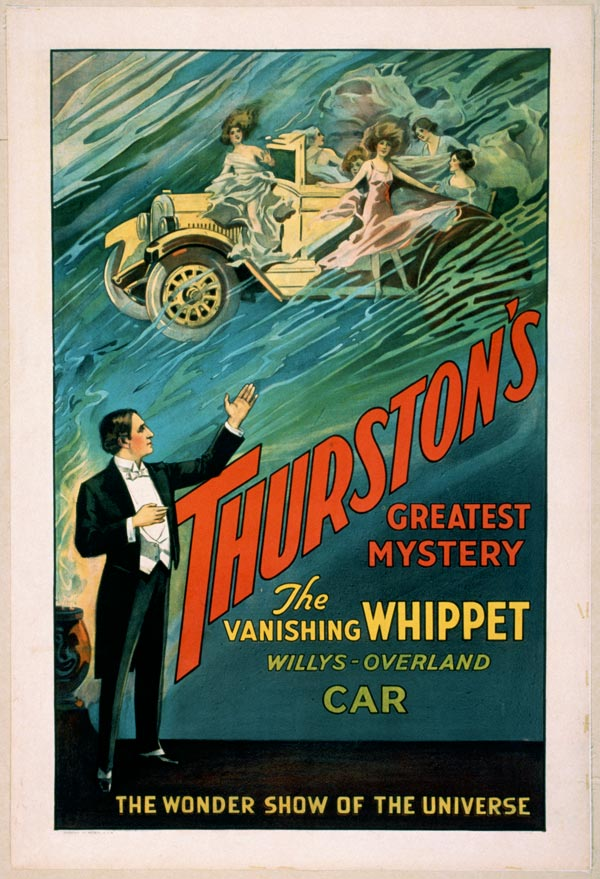"Cartaz de ""Trurston - The Great Magician"", de 1925"